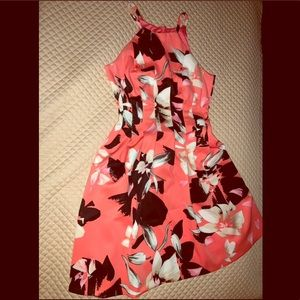 Pink Floral Vince Camuto Sleeveless Summer Dress